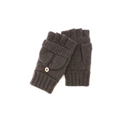 [ NAVAHO (ナバホ) ] フィンガーレスニットグローブ 手袋 カジュアル ラムウール 毛 通学通勤 メンズ 秋冬