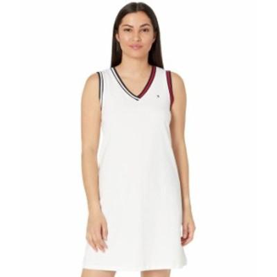 トミー ヒルフィガー レディース ワンピース トップス Casual T-Shirt Dress White