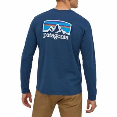 パタゴニア Patagonia メンズ 長袖Tシャツ トップス Fitz Roy Horizons Responsibili-Tee Long Sleeve T-Shirt Crater Blue