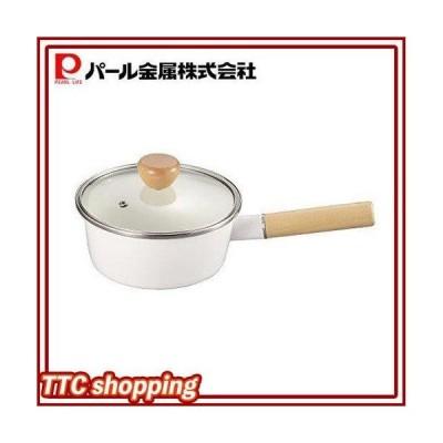 パール金属 アミィ ホーロー ガラス蓋 片手鍋 16cm ホワイト HB-801