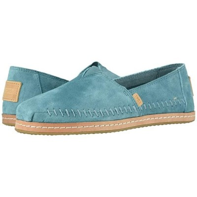 TOMS Alpargata Leather Wrap レディース ローファー TOMS Sky Pig Suede Leather Wrap