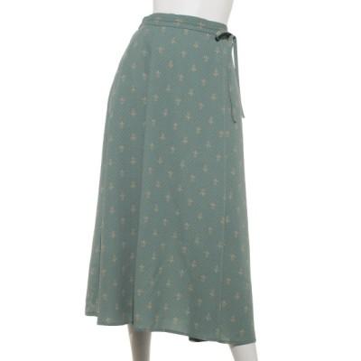 Green Parks (グリーンパークス) レディース 【chocol raffine robe】巻き風リボンスカート グリーン F