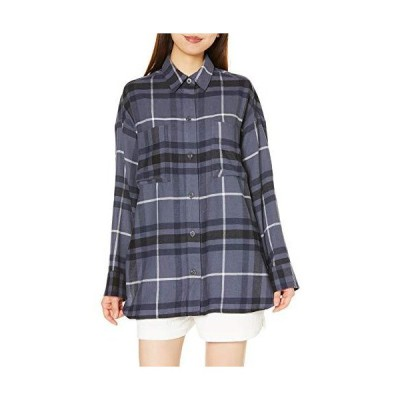 [ジェラート ピケ] ネルチェックシャツ PWFT204323 レディース NVY 日本 F (FREE サイズ)