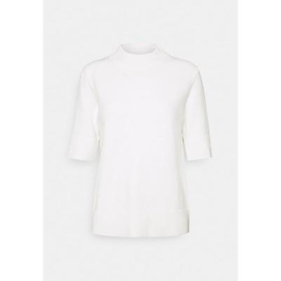 ヴィラ Tシャツ レディース トップス VIRIL CREW NECK - Basic T-shirt - white alyssum