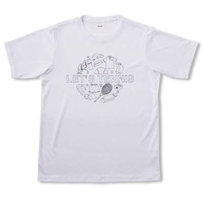 エレッセ ellesse ハンドライティングティー NEW レディースシャツ EM19100-W (ホワイト)