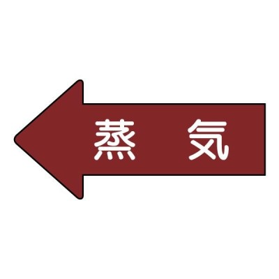 JIS配管識別方向表示ステッカー(小)(10枚1組)(蒸気) AS-31S