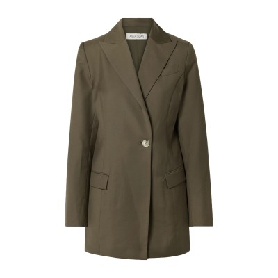 ANNA QUAN テーラードジャケット ミリタリーグリーン 10 ウール 95% / カシミヤ 5% テーラードジャケット