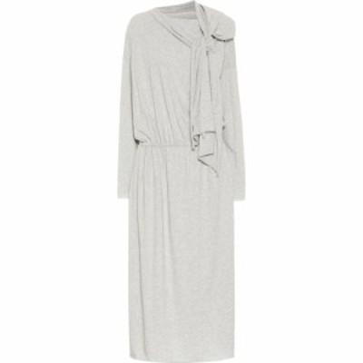 メゾン マルジェラ MM6 Maison Margiela レディース ワンピース ワンピース・ドレス Cotton Jersey Midi Dress Grey Melange