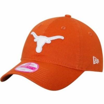 New Era ニュー エラ スポーツ用品  New Era Texas Longhorns Womens Texas Orange Team Glisten 9TWENTY Adjustable Hat