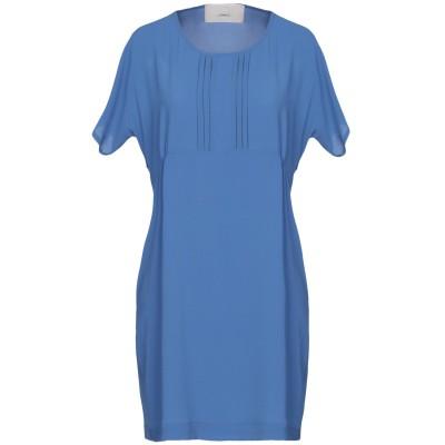 メルシー ..,MERCI ミニワンピース&ドレス ブルーグレー 44 ポリエステル 98% / ポリウレタン 2% ミニワンピース&ドレス