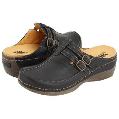 スプリングステップ Spring Step レディース クロッグ シューズ・靴 Happy Black Leather