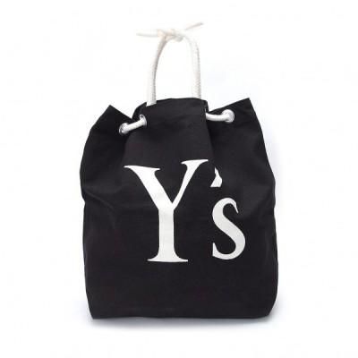 ワイズY's キャンバスロープトート 黒白 【レディース】