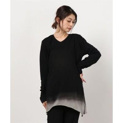 tシャツ Tシャツ 【別注】KMRii/ケムリ/MagCrossGradationCtLS/RFL