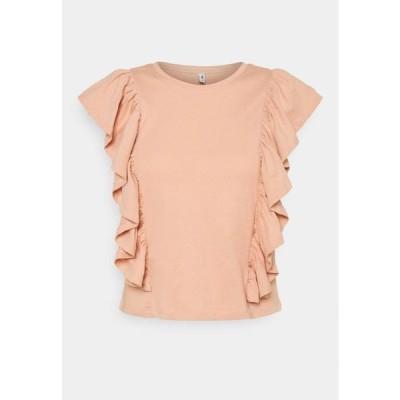 オンリー レディース ファッション ONLJULLA FRILL - Print T-shirt - misty rose