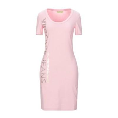 VERSACE JEANS ミニワンピース&ドレス ピンク XS コットン 94% / ポリウレタン 6% ミニワンピース&ドレス