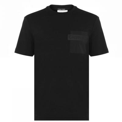 カルバンクライン CALVIN KLEIN メンズ Tシャツ ポケット トップス Nylon Pocket T Shirt Black BEH