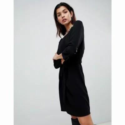 ヴィラ ワンピース Tie Waist Dress Black