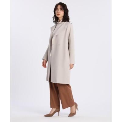 (7-IDconcept/セブンアイディコンセプト)《大きいサイズ》オーバーサイズロングコート《Super110's Wool》/レディース ベージュ2