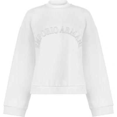 アルマーニ EMPORIO ARMANI レディース スウェット・トレーナー トップス Brand Sweatshirt Bianco