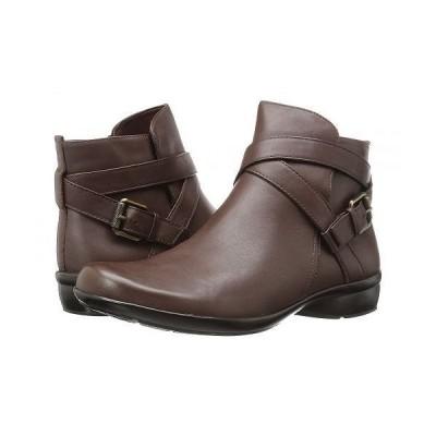Naturalizer ナチュラライザー レディース 女性用 シューズ 靴 ブーツ アンクル ショートブーツ Cassandra - Brown Leather