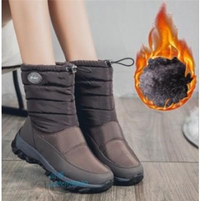 スノーブーツ レディース ブーツ 裏ボア 防水 ショートブーツ 冬 シューズ 靴 滑り止め 防寒ブーツ