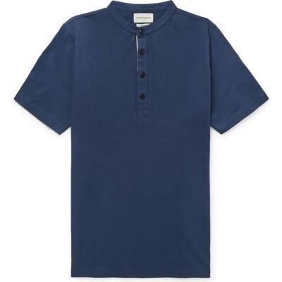 オリバー スペンサー OLIVER SPENCER メンズ Tシャツ トップス t-shirt Dark blue