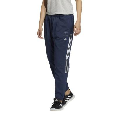 adidas アディダス W MHE 3ST クロス パンツ JKO11 GM8825 レディーススポーツウェア ウインドアップパンツ レディース クルーネイビー セール