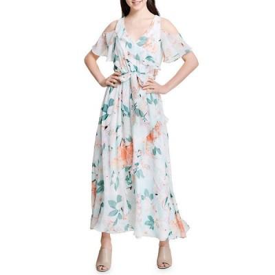 カルバンクライン ワンピース トップス レディース Calvin Klein Cold Shoulder Ruffle Dress -