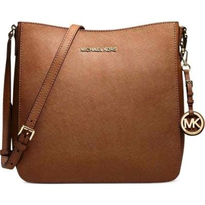 マイケル コース Michael Kors レディース ショルダーバッグ メッセンジャーバッグ バッグ Jet Set Travel Large Saffiano Leather Messenger Bag Luggage/Gold
