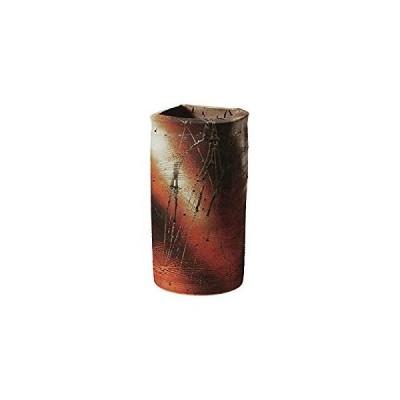 信楽焼 火色タタキ角型傘立(全高42cm×口20cm)