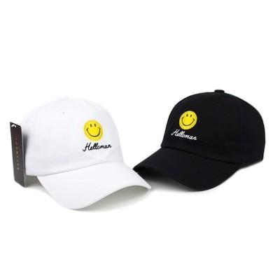 Helloman 韓国人気 Smile cap 男女共用2色