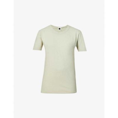 ベイシーク BASSIKE レディース Tシャツ トップス Heritage scoop-neck organic cotton T-shirt Seductive Sage