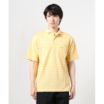 ポロシャツ ボーダー衿 ポロシャツ