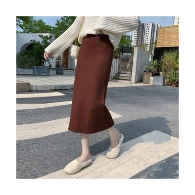 ロングスカート ニットスカート マキシ丈 4サイズ ゆったり 履きやすい
