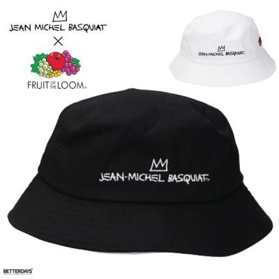 バケットハット おしゃれ レディース メンズ 帽子  フルーツオブザルーム バスキア BASQUIAT BUCKET HAT 国内正規販売店 FRUIT OF THE LOOM