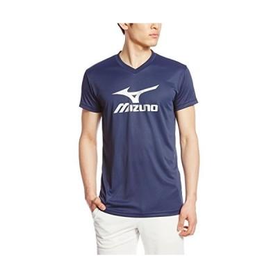 ミズノ MIZUNO バレーボールウエア プラクティスシャツ V2MA7087 80 ドレスネイビー×シルバー 140cm