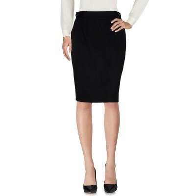ディースクエアード DSQUARED2 ひざ丈スカート ブラック 44 ウール 100% ひざ丈スカート