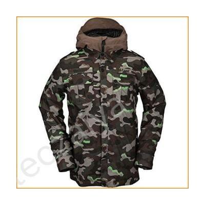 Volcom Men's CREEDLE2STONE Military Style Snow Jacket, Army, M並行輸入品