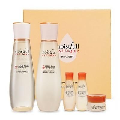 ETUDE HOUSE*BEST* Moistfull Collagen Skin Care Set/エチュードハウスモイストフル 水分いっぱい コラーゲン 化粧水+乳液+ミニサンプル2種