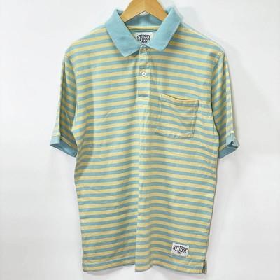 【ABランク】STUSSY ポロシャツ 半袖 ボーダー M ステューシー メンズ