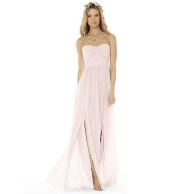 ソーシャルブライドメイド ワンピース トップス レディース Strapless Gown Blush Pink