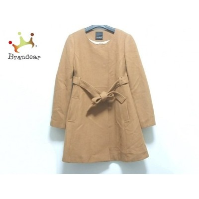 バナーバレット BannerBarrett コート サイズ38 M レディース ブラウン 冬物/ベルト着脱可     スペシャル特価 20201122