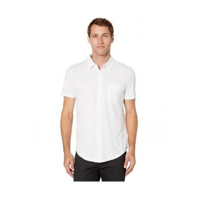 Mod-o-doc モッドオードック メンズ 男性用 ファッション ボタンシャツ Montara Short Sleeve Boyfriend Slub Jersey - White