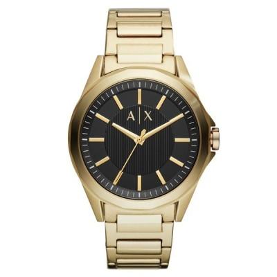 アルマーニエクスチェンジ メンズ Drexler 黒文字盤 ゴールド ステンレス 男性 プレゼント AX2619 腕時計