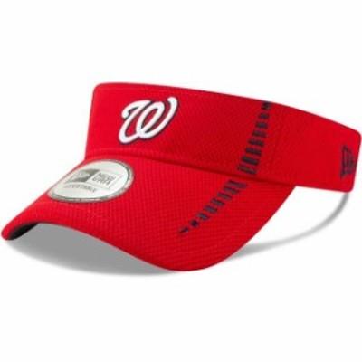 New Era ニュー エラ 帽子 バイザー New Era Washington Nationals Red Speed Tech Visor