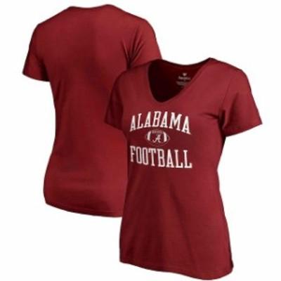 Fanatics Branded ファナティクス ブランド スポーツ用品  Fanatics Branded Alabama Crimson Tide Womens Crimson Neutral Zone V-Neck