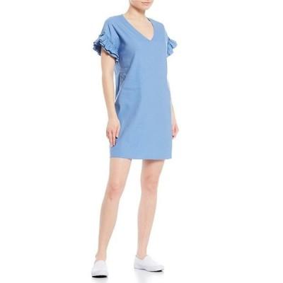 ダニエル クレミュ レディース ワンピース トップス Bethany V-Neck Ruffle Sleeve Dress