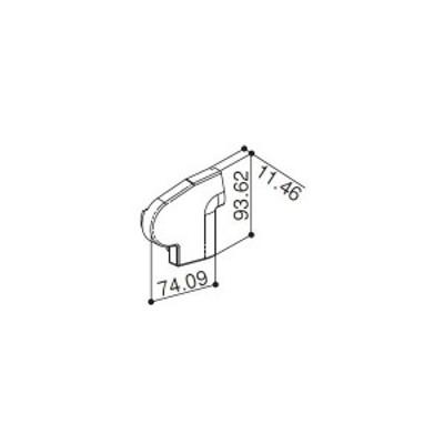 【YKK AP メンテナンス部品】 前枠コーナーキャップF型用 (HH2K-31223)
