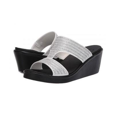 SKECHERS スケッチャーズ レディース 女性用 シューズ 靴 ヒール Rumble On - Bling Gal - White/Silver