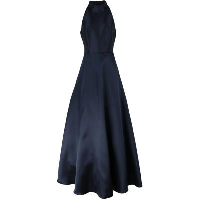 モニークルイリエ MONIQUE LHUILLIER ロングワンピース&ドレス ダークブルー 10 ポリエステル 100% ロングワンピース&ドレス